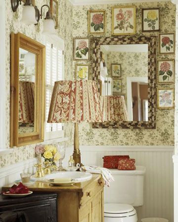 Cottage Bathroom Ideas English country decor, English and Wallpaper
