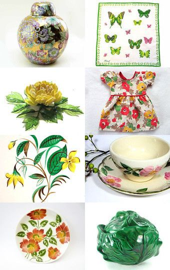IN THE GARDEN WITH EPSTEAM by Encore Emporium on Etsy--Pinned with TreasuryPin.com