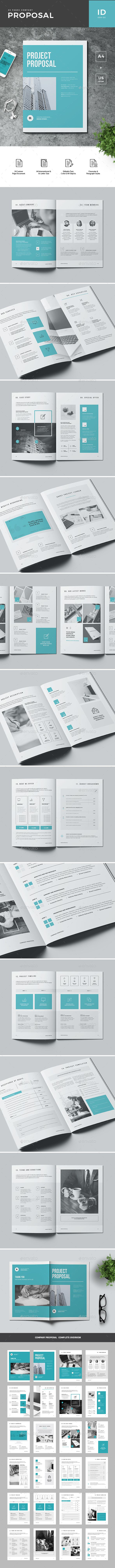 proposal brochure template indesign indd 24 custom pages a4 international us letter size layered document cmy proposal invoice templates