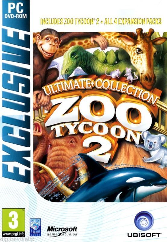 Zoo Tycoon 2 Ultimate Collection PC Brand New Sealed with All 4