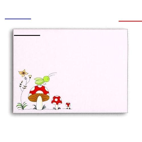 Cute Garden Cricket Baby Shower Pink Pastel Envelope Cute Garden Cricket Baby Shower Pink Pastel Env...