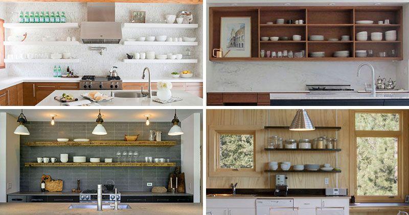 Kitchen Design Idea 19 Examples Of Open Shelving Open Kitchen Shelves Kitchen Design Examples Kitchen Design Open