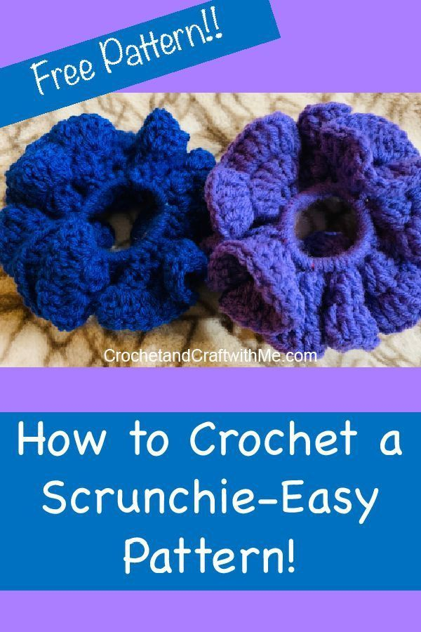 How to Crochet a Scrunchie- Easy Pattern