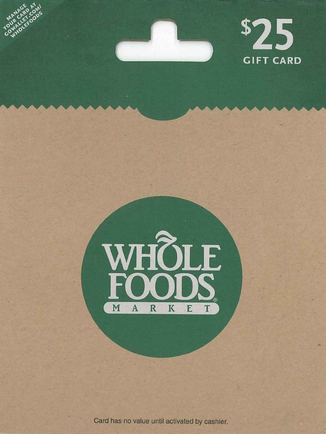 Whole Foods Market 25 Gift Cards Store