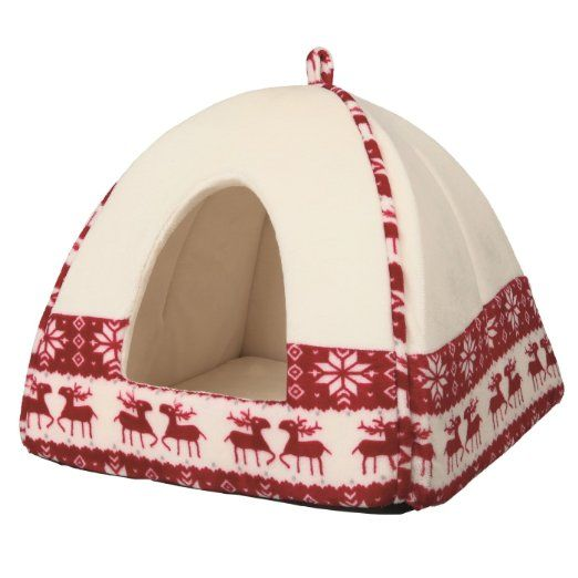 Trixie Christmas Santa Cuddly Cave Suitable For Small Dogs and Cats