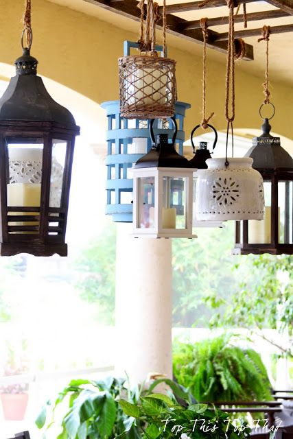 Ladder And Lantern Diy Project With