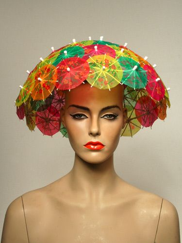 899d4313b Tyra loves this one. It's editorial.   Umbrella Hats in 2019   Fancy ...
