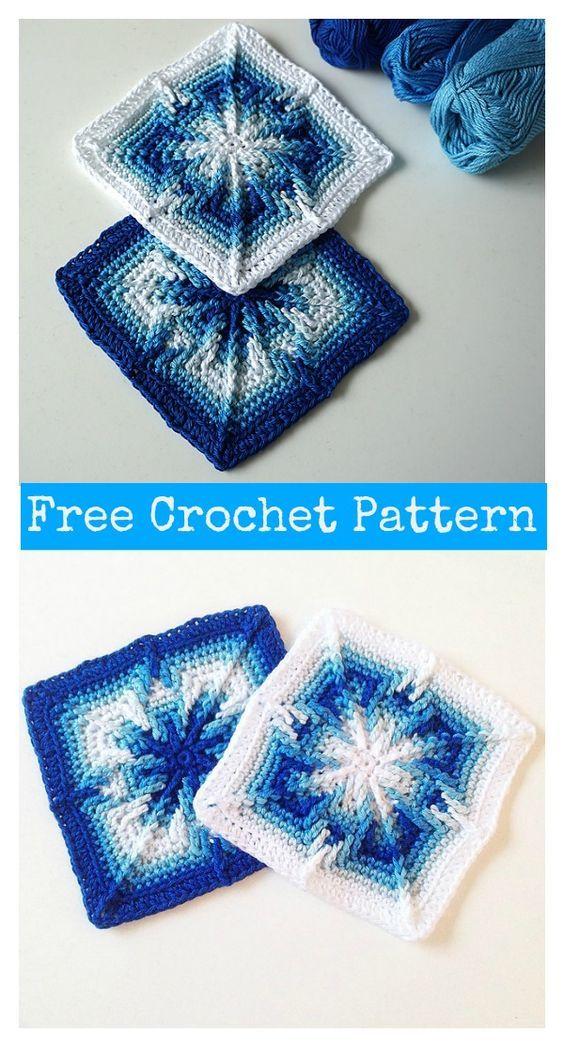 Arietis Square Free Crochet Pattern | Granny square | Pinterest | Tejido