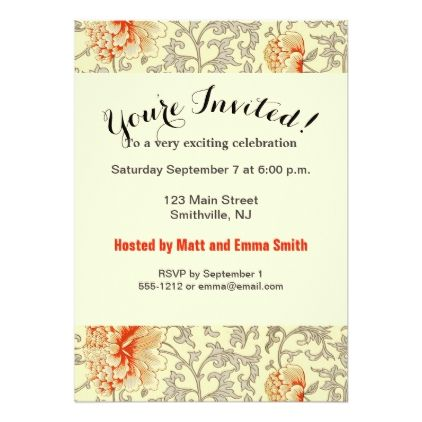 Floral Art Print Custom Invitation Template - #birthdayinvitation - birthday party card template