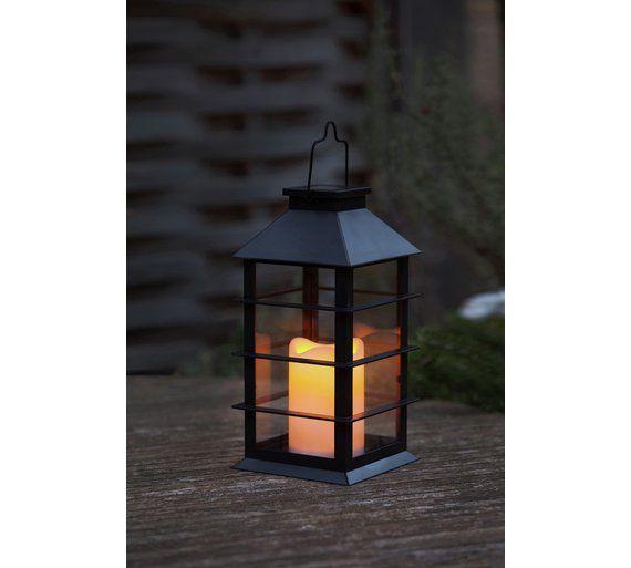Heart Of House Lima Black Solar Lantern Light At Argos Co Uk