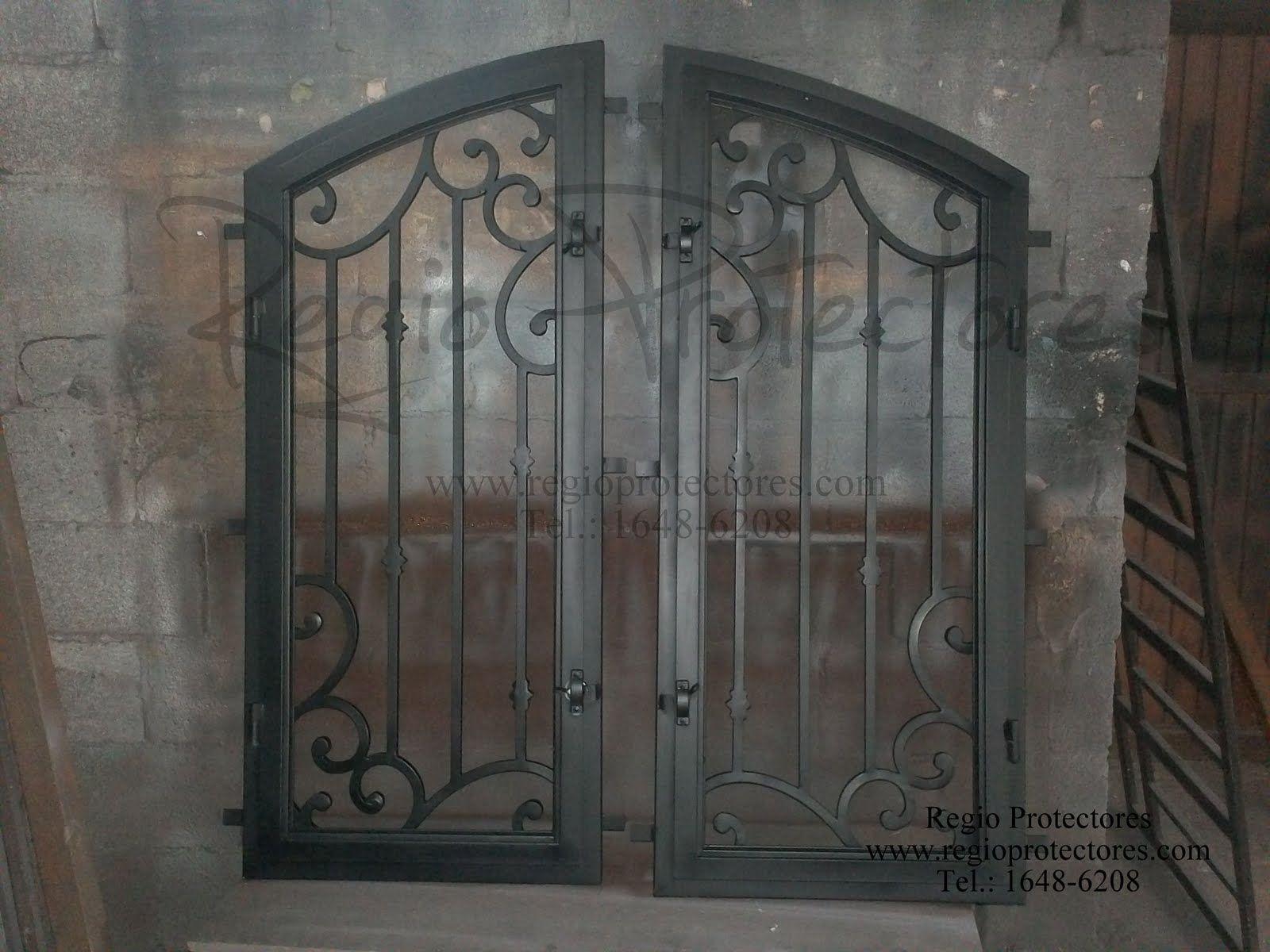regio protectores insertos de hierro forjado para puerta de