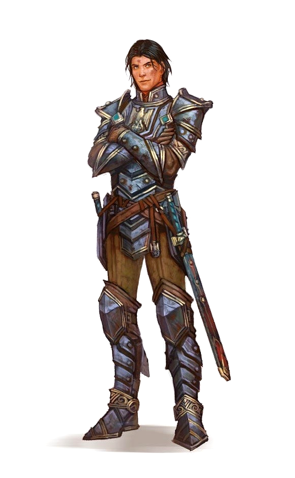 Male Human Fighter Warrior - Pathfinder PFRPG DND D&D 3.5 5E 5th Ed D20 Fantasy
