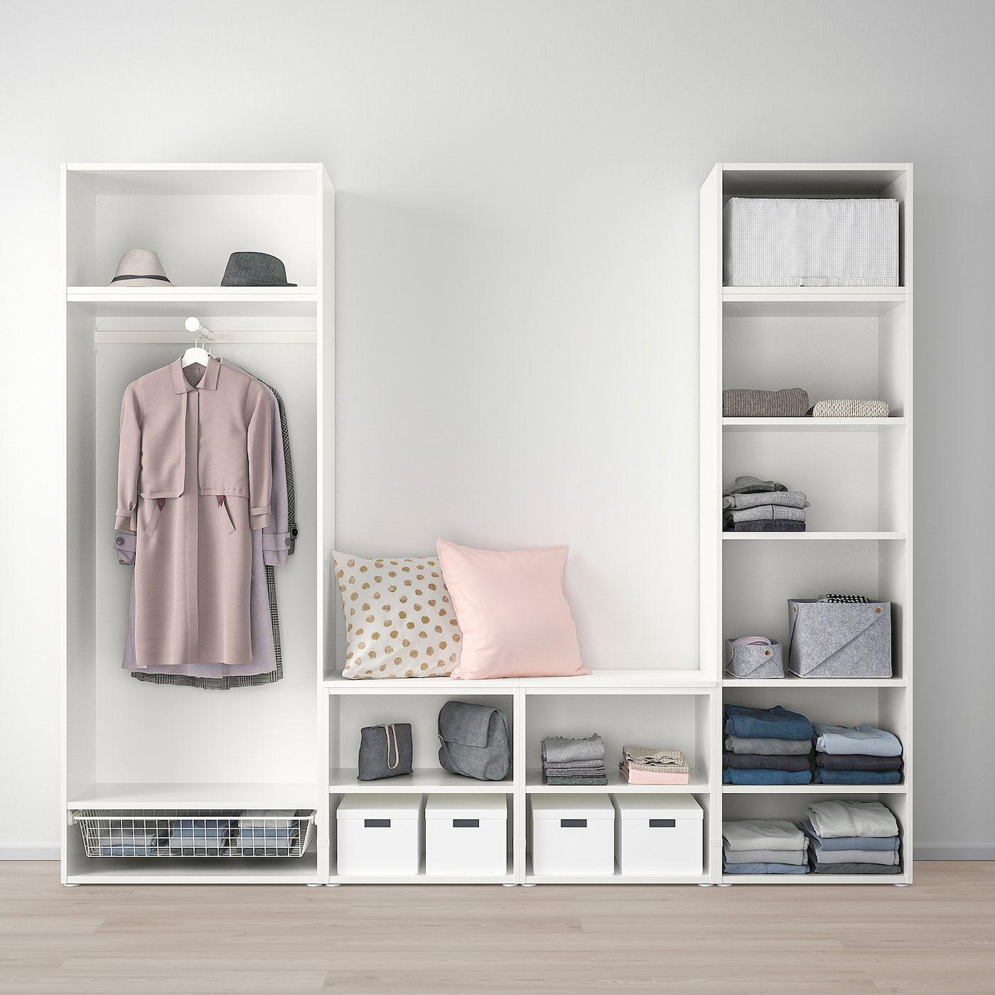 PLATSA Kleiderschrank mit 9 Türen weiß, Fonnes Ridabu