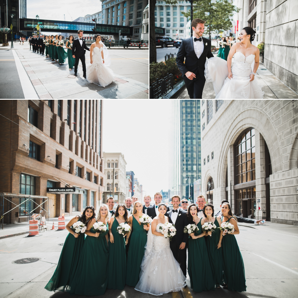 Bridal Party Takes On The Streets Of Downtown Milwaukee Dancing Under The Stars At The Ivy House Daniel Labelle Photography Bridal Party Bridal Ivy House