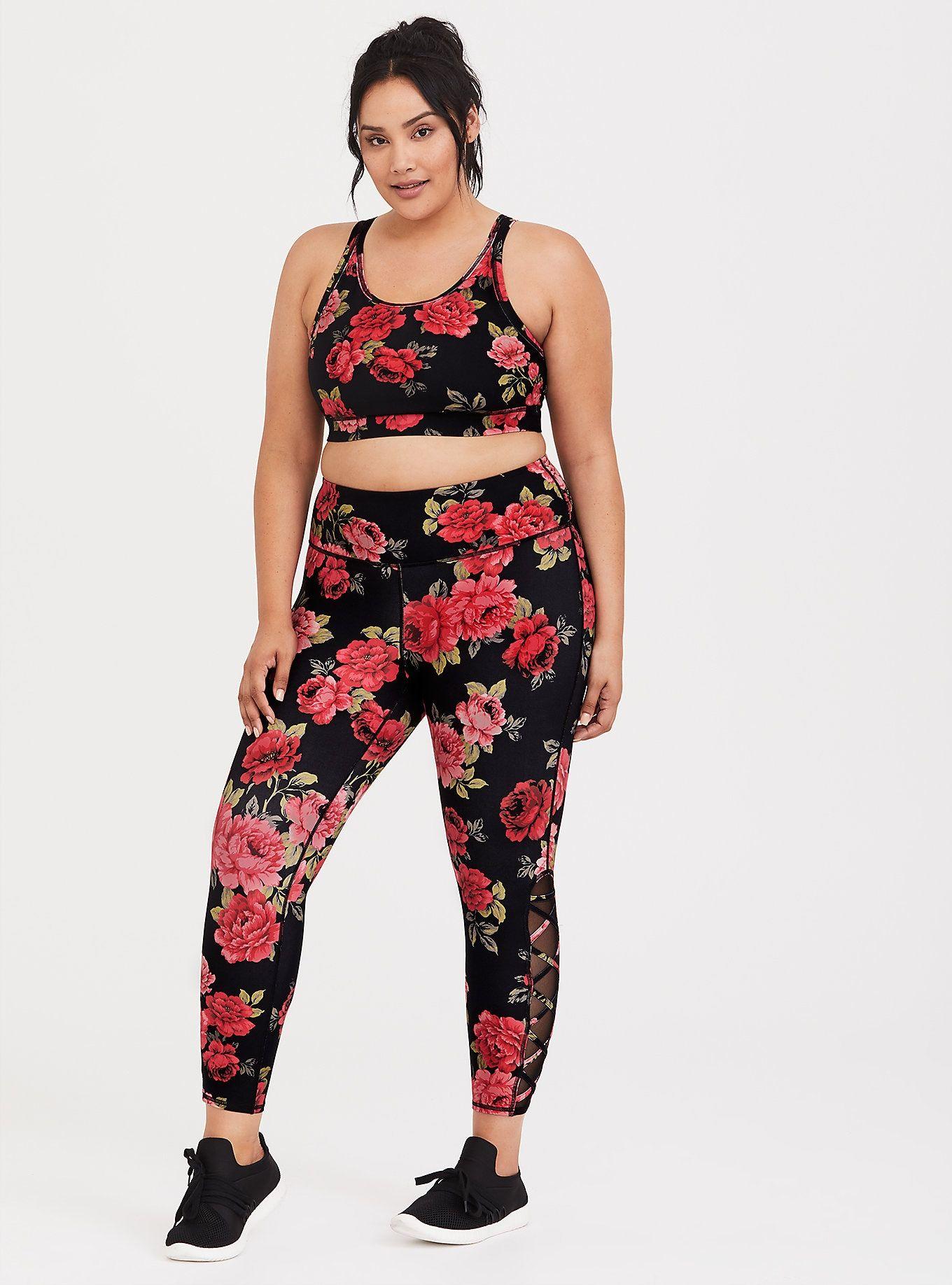 Floral Active Set Plus size activewear, Plus size, Plus