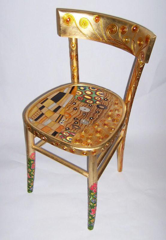 Colori Da Vetro E Foglia Oro Con Immagini Sedie Decorate