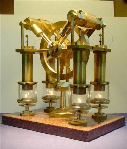 Video: Beautiful Brass Steampunk Stirling Engine   Moteur stirling, Machine à vapeur et Moteur