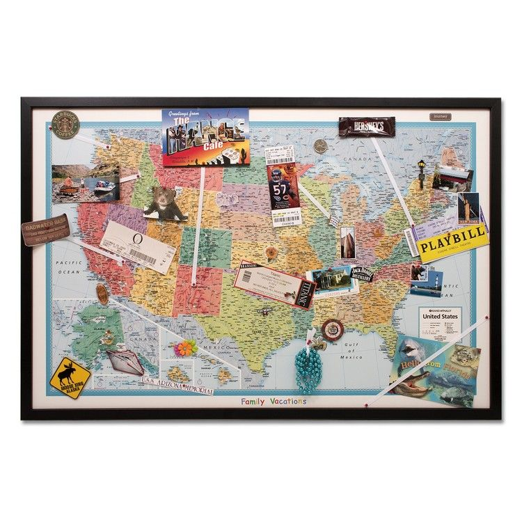 WIN A Pin Your Journeys Wall Map Today Join TNI On Twitter - Us map pinboard