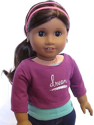 Stunning Custom American Girl Doll Gabriela with brown wavy hair