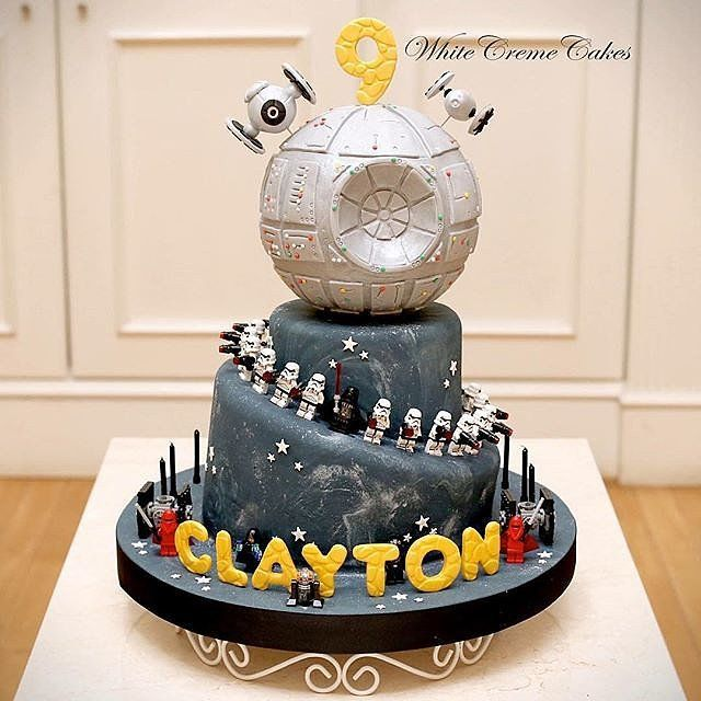 May The Force Be With Your Kids Birthday Cakes Lego Death Star