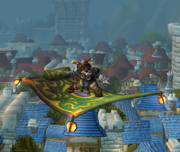 Flying on a flying carpet over Stormwind. Wow World, World Of Warcraft