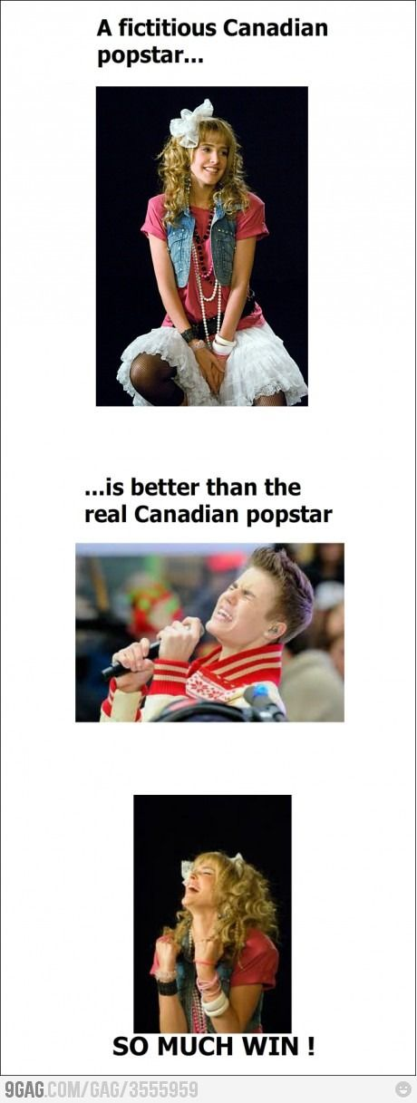 """For those who don't get it - that's Robin from the tv show """"How I met your mother."""" Her character was a teen pop-star!"""