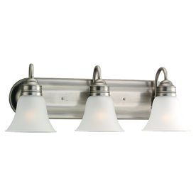 Sea Gull Lighting Gladstone 3-Light Antique Brushed Nickel Vanity Ligh