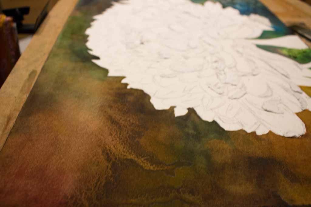 Blutentraum Ein Chrysanthemen Aquarell Von Frank Koebsch