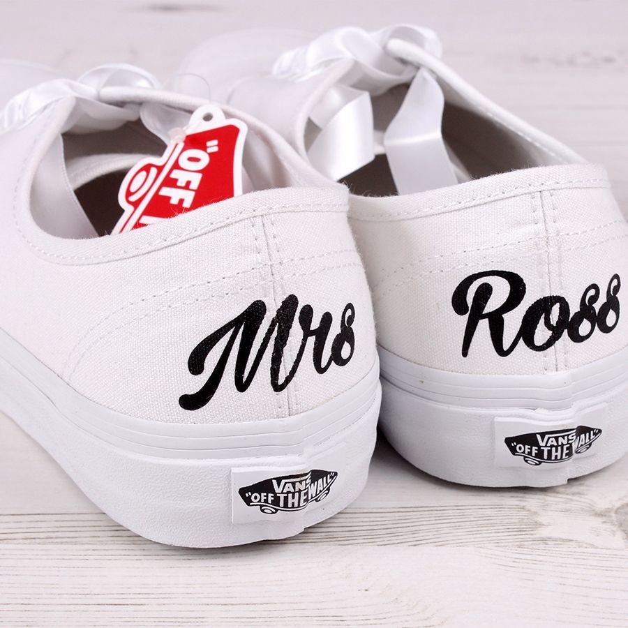 Bride Vans Shoes - Wedding Converse