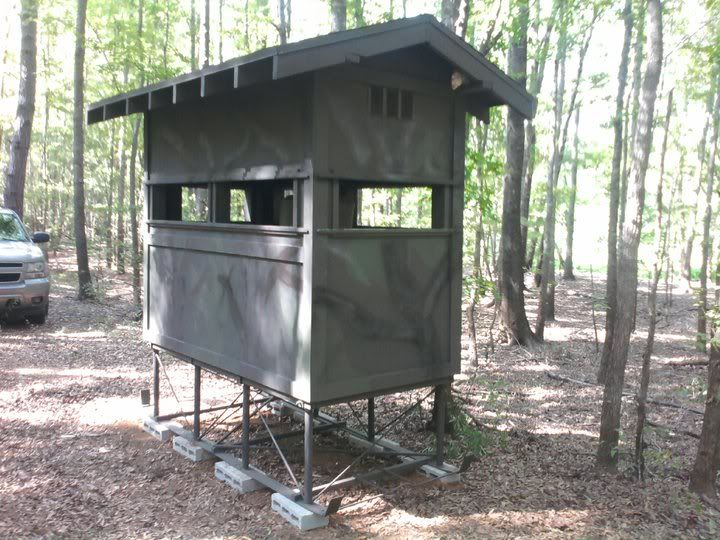 Diy deer blind plans post what you have texas for Inside deer blind ideas
