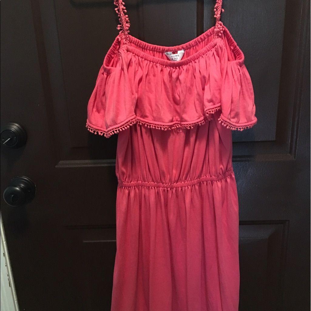 Crown And Ivy Petite Pink Off Shoulder Dress