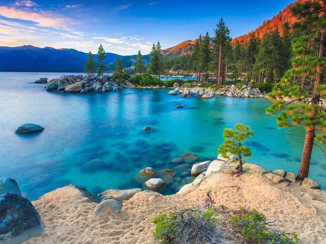 Sand Harbor Incline Village Nevada Beach Hotels Lakes Rivers Water Sky Nature Mountain Rock River Lake Sea Surrounded Canyon Lagoon S