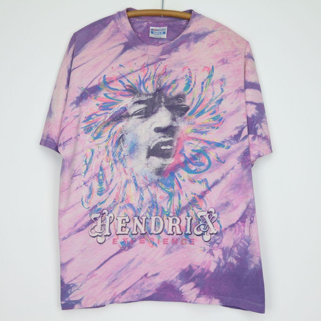 f3f59188a10 1990s Jimi Hendrix Experience Tie Dye Shirt
