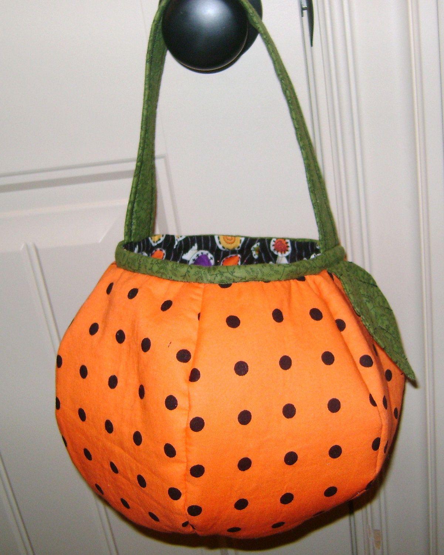 Pumpkin Trick or Treat bag/basket SEWING PATTERN | Bag sewing ...