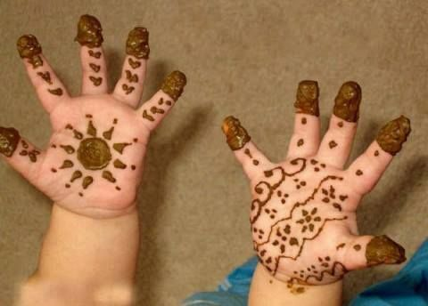 simple mehndi designs for small hands