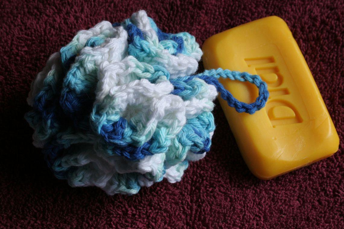Cotton Shower Puff,