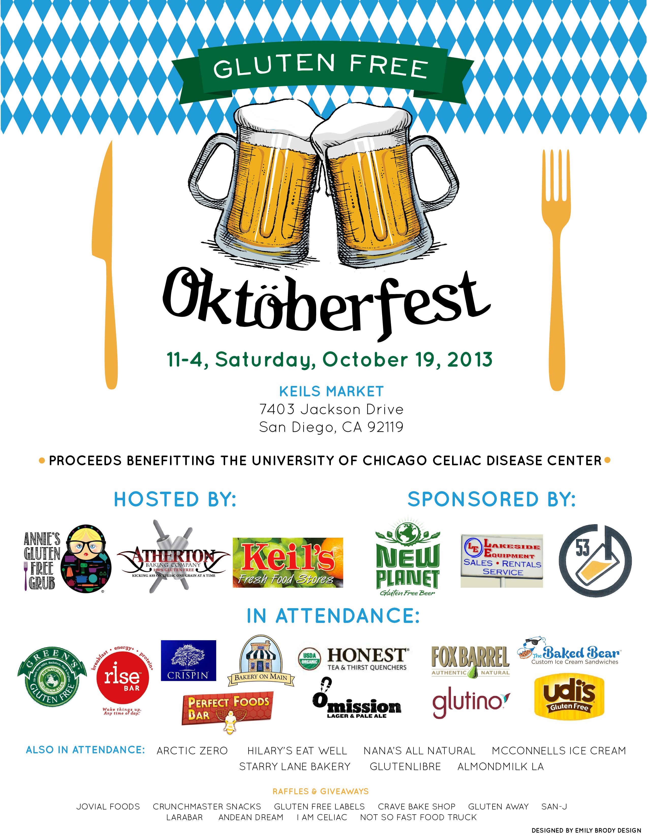 Gluten free oktoberfest in san diego october 19th gf beer food gluten free oktoberfest in san diego october gf beer food products raffles prizes all funds raised to to the university of chicago celiac disease negle Gallery