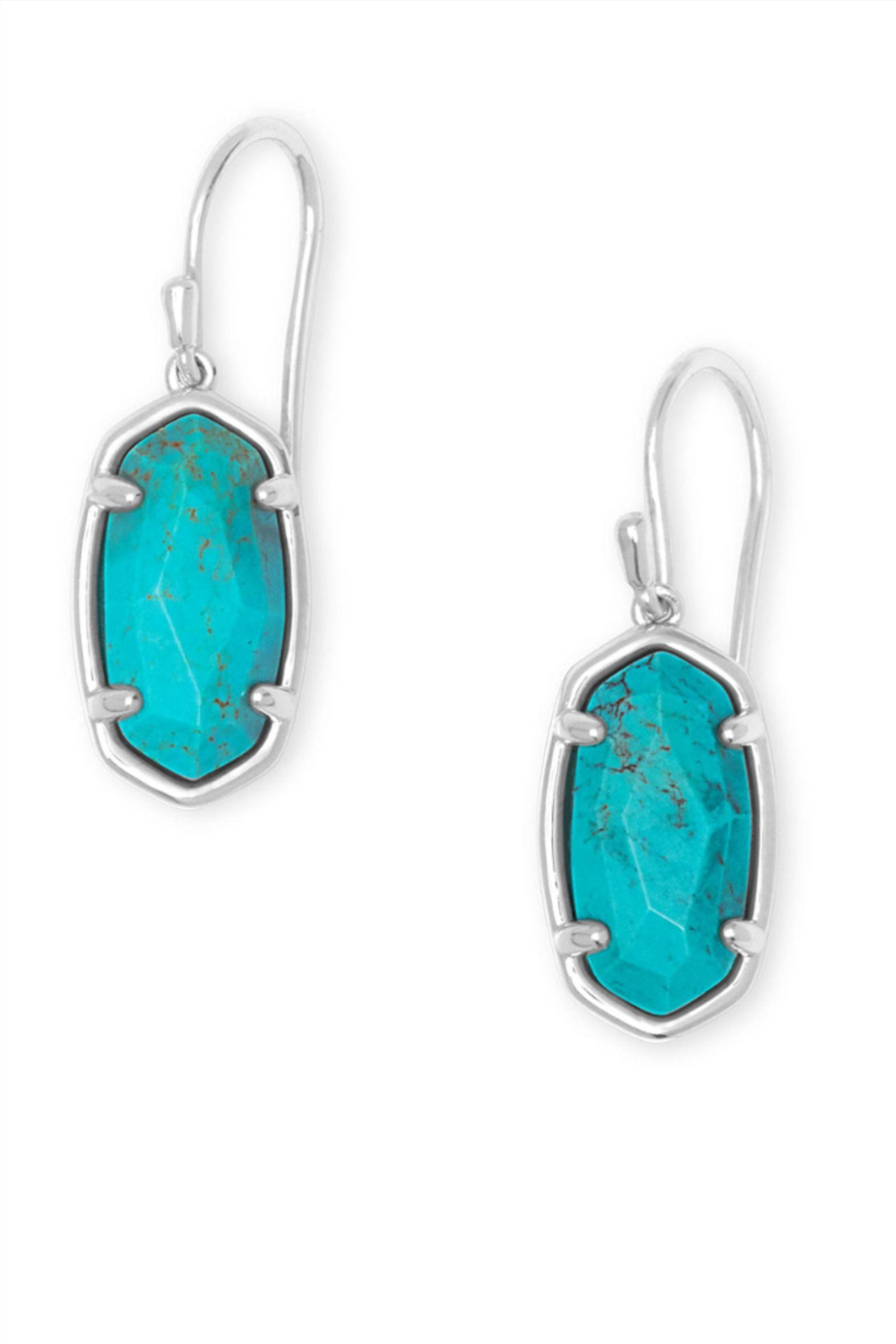 Sterling Silver Jewelry Turquoise Earrings Silver Drop Earrings Genuine Turquoise Sterling Silver Drop Earrings
