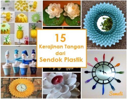33 Kerajinan Tangan Dari Sendok Plastik Kerajinan Tangan Tempat
