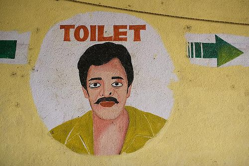 Gents to the right    Mural at the City Market in Bangalore. Photo: Anja Cronenberg