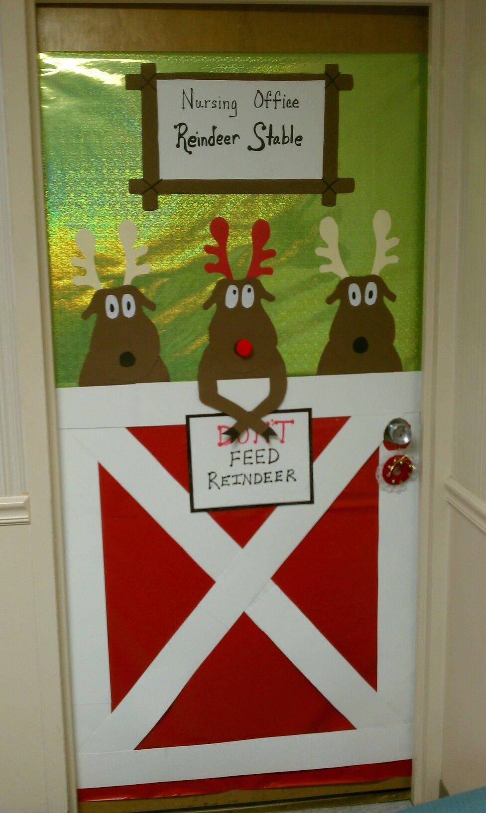 Reindeer Door Decoration Christmas Door Decorations