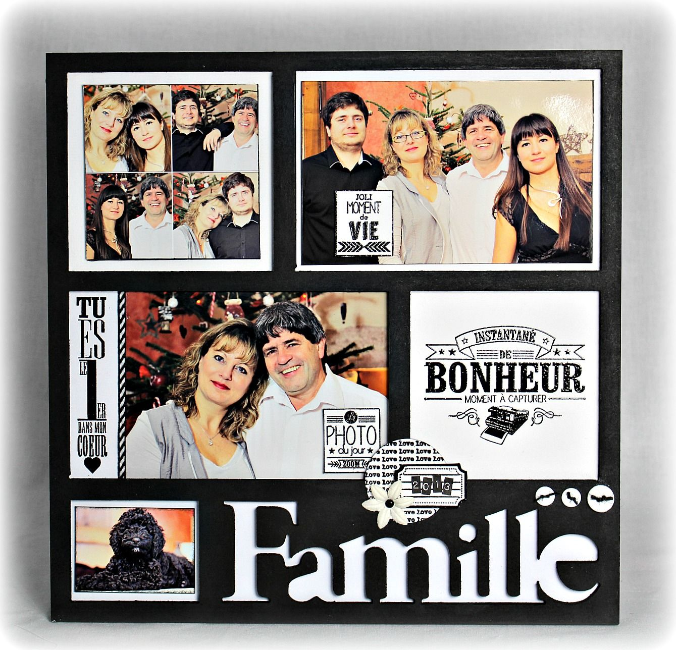 cadre famille 2013 scrapbooking pinterest scrapbooking scrap and album photos. Black Bedroom Furniture Sets. Home Design Ideas