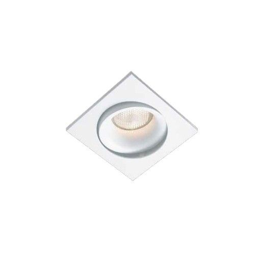 Spot Luna De Embutir Quadrado Branco Em Aluminio Para Lampada