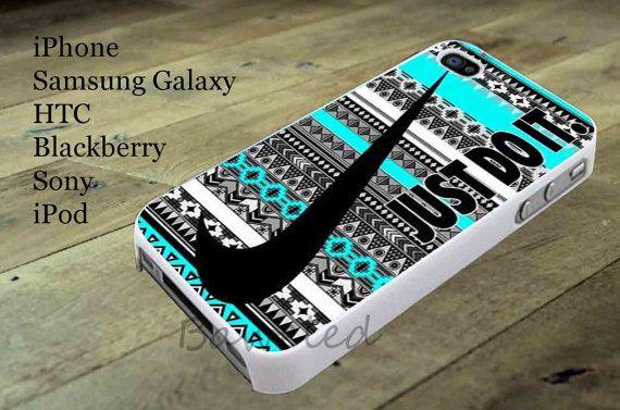 Nike Just Do It Aztec Mint for iphone case, Samsung Galaxy Case, iPod Case, HTC Case, Blackberry Case, Sony Case