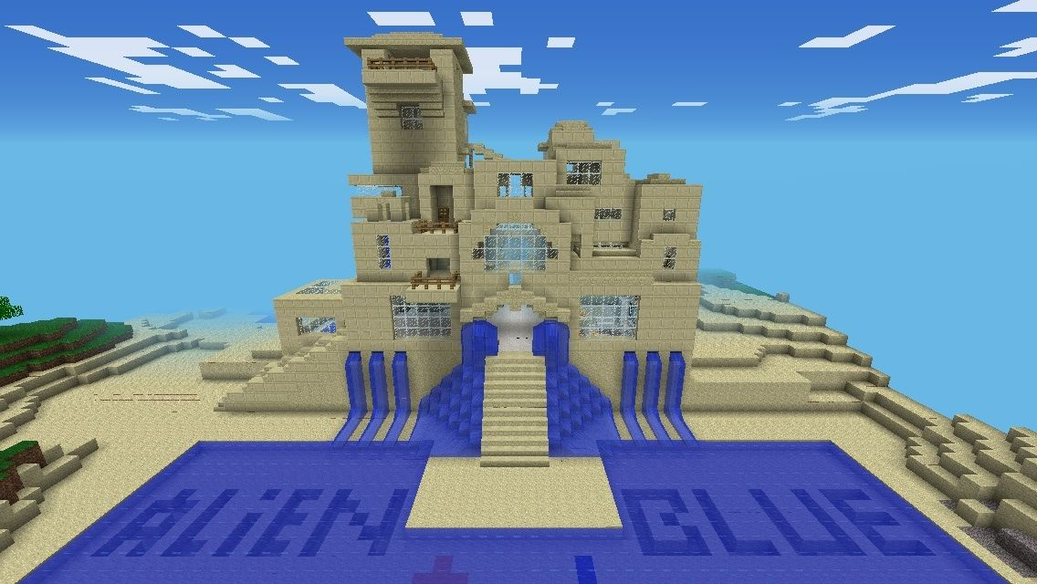 Cool Sandstone Builds With Images Sand Castle Minecraft