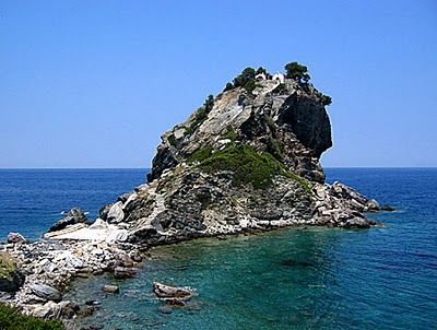 This Is The Church On Top Of The Rock Where The Wedding Took Place In The Movie Mamma Mia Its On The Greek Island Of Skopelos