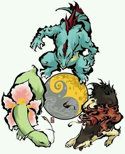 Jotho Starters Pokemon Pokemon Starters Pokemon Art