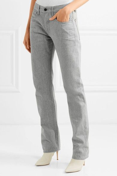 Sale Visit Hakone High-rise Straight-leg Jeans - Light gray Victoria Beckham Get Authentic Pictures Cheap Price TumHsWUN