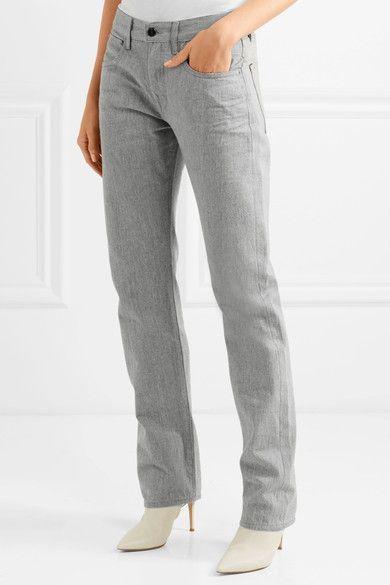 Outlet Cheap Hakone High-rise Straight-leg Jeans - Light gray Victoria Beckham Limit Offer Cheap eMgM9J