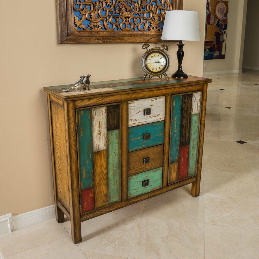 lauer 4 drawer 2 door accent cabinet